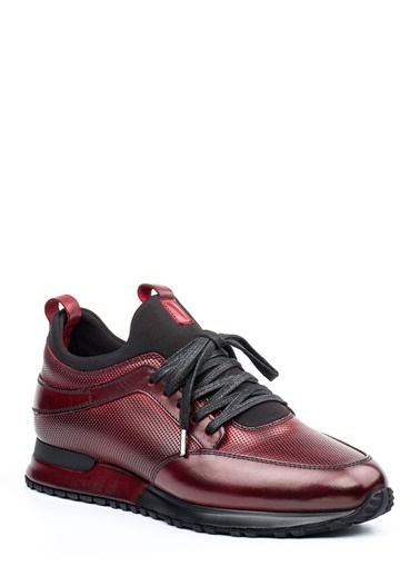 Doka Deri Sneakers Bordo